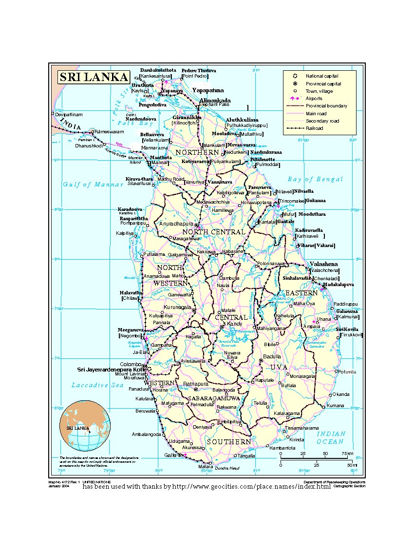 traditional sinhala place names of towns in the north and. Black Bedroom Furniture Sets. Home Design Ideas